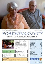 PRO–TYRESÖ PENSIONÄRSFÖRENING