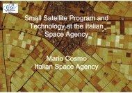 Mario Cosmo Italian Space Agency