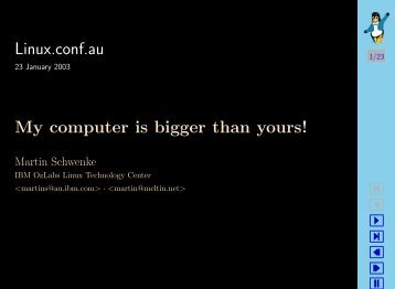 Linux.conf.au My computer is bigger than yours!