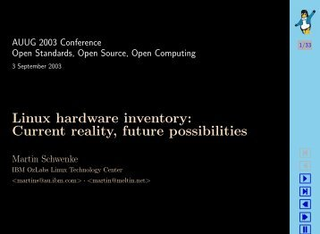 Linux hardware inventory Current reality future possibilities