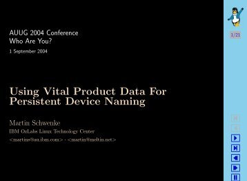 Using Vital Product Data For Persistent Device Naming