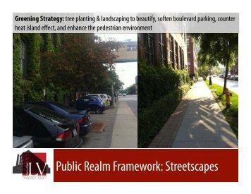 Public Realm Framework Streetscapes