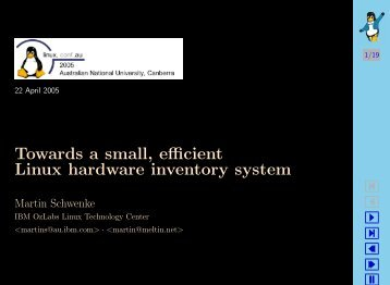 * Towards a small efficient Linux hardware inventory system