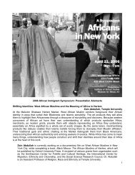 Abstracts - Museum for African Art