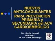 Nuevos anticoagulantes para prevención primaria y secundaria del ...