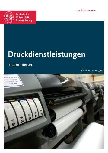 Druckdienstleistungen - Technische Universität Braunschweig