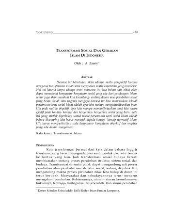 E-book | Transpormasi Sosial dan Gerakan Islam di Indonesia