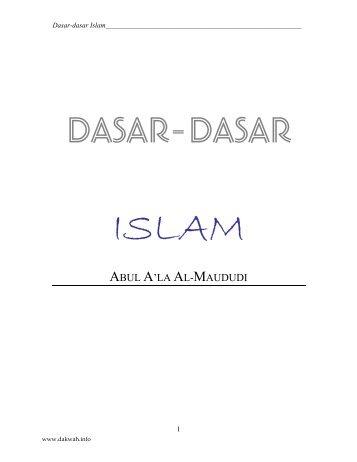 DASAR-DASAR ISLAM