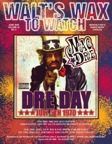 rap/dance catalog - City Hall Records