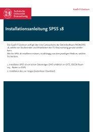 Installationsanleitung SPSS 18 - Technische Universität Braunschweig