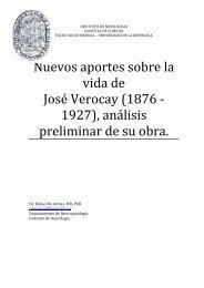 JOSE VEROCAY neurohistoria 2011 - Instituto de Neurologí