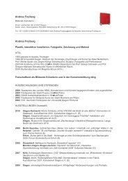 Andrea Freiberg - Plastik, Interaktive Installation ... - Bad Berleburg