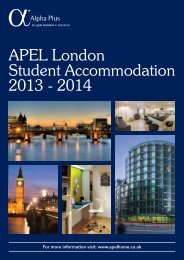 APEL London Student Accommodation 2013 - 2014