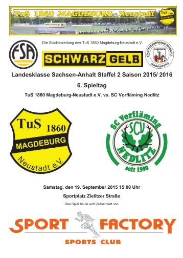 Landesklasse Sachsen-Anhalt Staffel 2 Saison 2015/ 2016 6 Spieltag