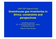 Greenhouse gas inventories in Africa constraints and perspectives