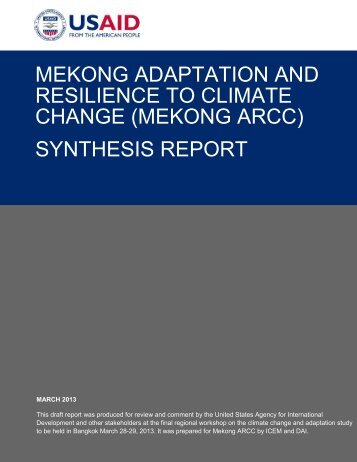 synthesis report - Mekong ARCC