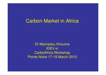 Carbon Market in Africa