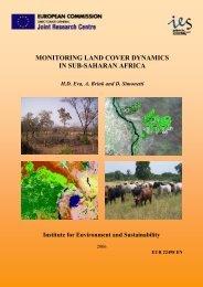 MONITORING LAND COVER DYNAMICS IN SUB-SAHARAN AFRICA