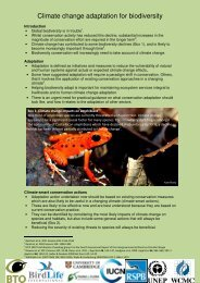 Climate change adaptation for biodiversity
