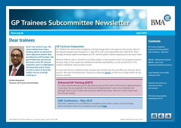 GP Trainees Subcommittee Newsletter