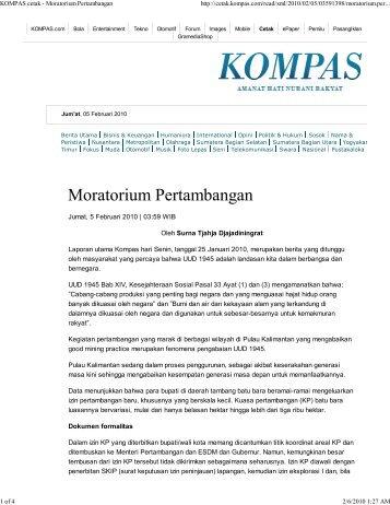 Moratorium Pertambangan
