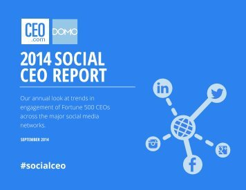 2014 SOCIAL CEO REPORT
