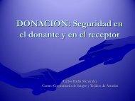 DONACION Seguridad en el donante y en el receptor