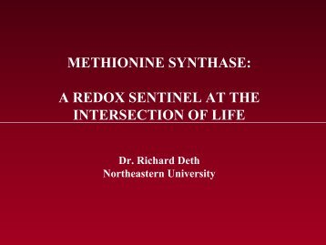 METHIONINE SYNTHASE A REDOX SENTINEL AT THE INTERSECTION OF LIFE