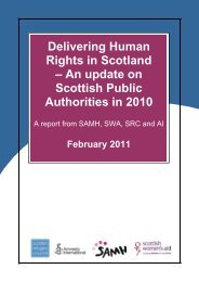 Delivering Human Rights in Scotland - Scottish Refugee Council
