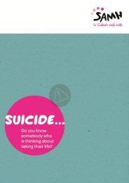Suicide… - Scottish Association for Mental Health