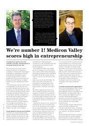 We're number 1! Medicon Valley scores high in entrepreneurship