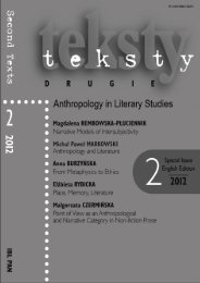 Index of Content Anthropology in Literary Studies