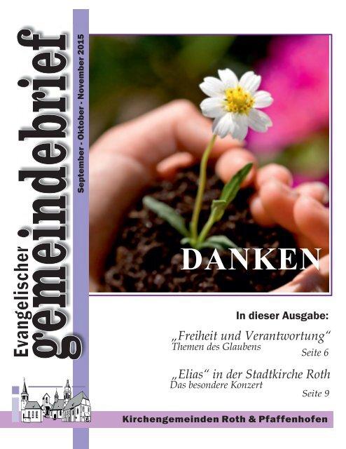Evang. Kirchengemeinde Roth - Gemeindebrief Sept. 2015 - Nov. 2015