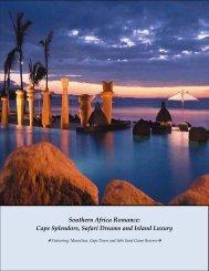 Cape Splendors Safari Dreams and Island Luxury
