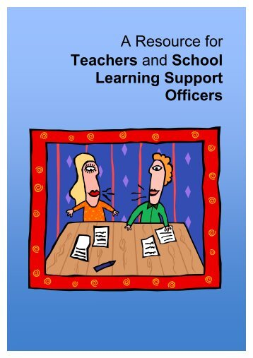 A Resource for Teachers and School Learning Support Officers