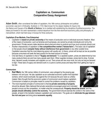 free magazines from yourhistorysite comcapitalism vs communism comparative essay assignment