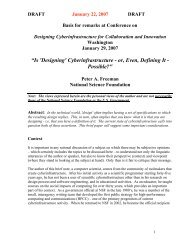 """""""Is 'Designing' Cyberinfrastructure - or Even Defining It - Possible?"""
