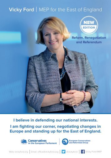 Vicky Ford MEP for the East of England