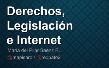 Derechos Legislación e Internet