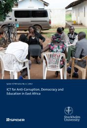 ICT for Anti-Corruption Democracy and Education in East Africa