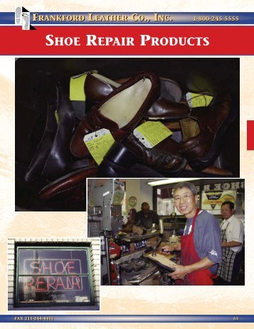 SHOE REPAIR PRODUCTS