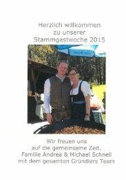 Stammgastwoche Sommer 2015