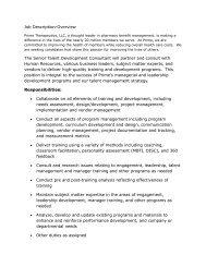 Job Description-Overview The Senior Talent Development ...