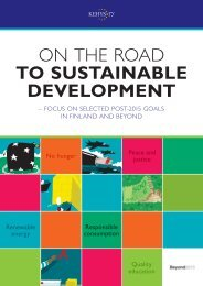 ON THE ROAD TO SUSTAINABLE DEVELOPMENT