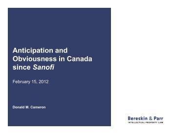 Obviousness in Canada since Sanofi