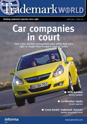 Car companies in court