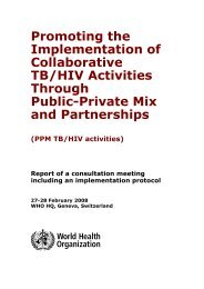 Promoting the Implementation of Collaborative TB/HIV Activities - part