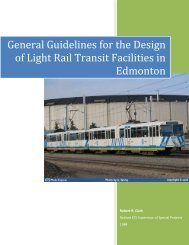 General Guidelines for the Design of Light Rail Transit Facilities in Edmonton
