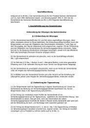 Geschäftsordnung Aufgrund von § 38 Abs. 2 der Gemeindeordnung ...