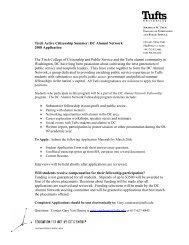 an application - Jonathan M. Tisch College of Citizenship and Public ...